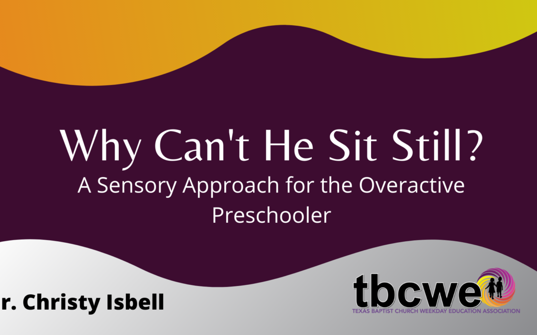 "Why Can't They Be Still? A Sensory Integration Approach to the ""Overactive"" Preschooler"